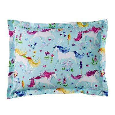 Unicorn Garden Cotton Percale Standard Sham