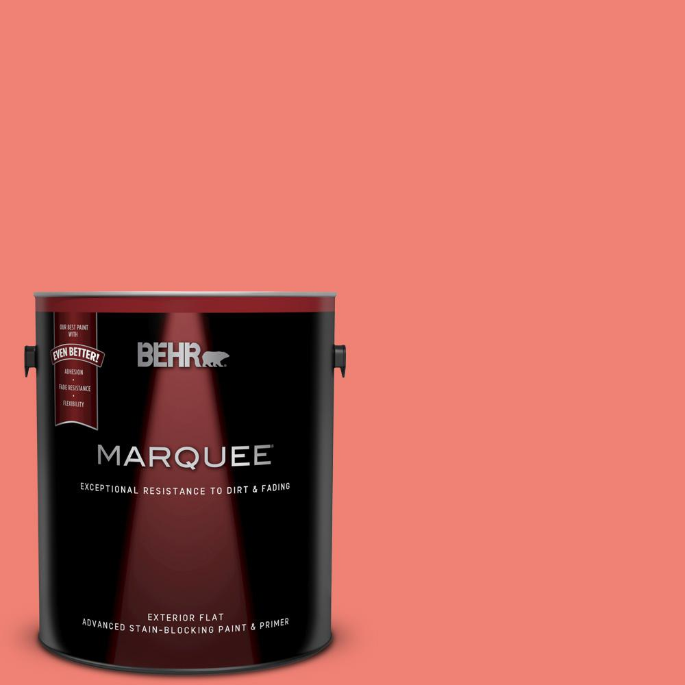 Awesome Behr Marquee 1 Gal 170B 5 Youthful Coral Flat Exterior Paint And Primer In One Download Free Architecture Designs Lectubocepmadebymaigaardcom