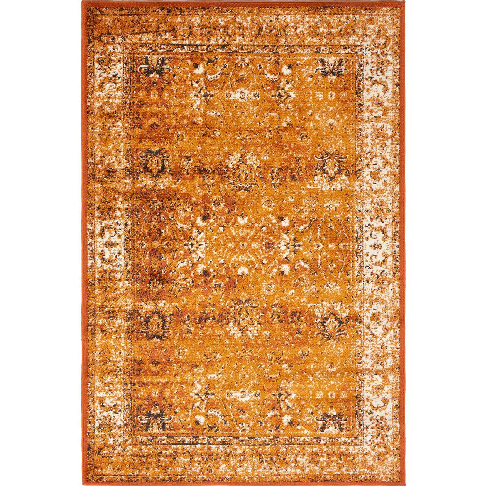 Linoleum Rug Turquoise Terracotta Area Rug Or Kitchen Mat: Unique Loom Istanbul Terracotta And Ivory 4 Ft. X 6 Ft