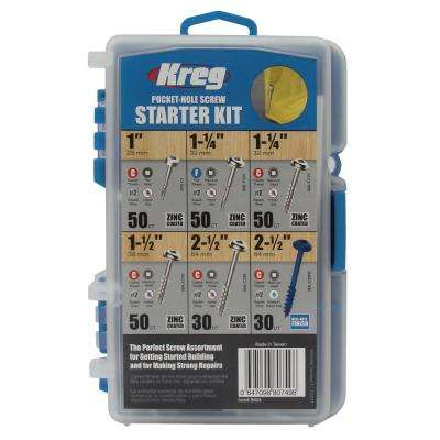 Pocket-Hole Screw Starter Kit (260-Pack)