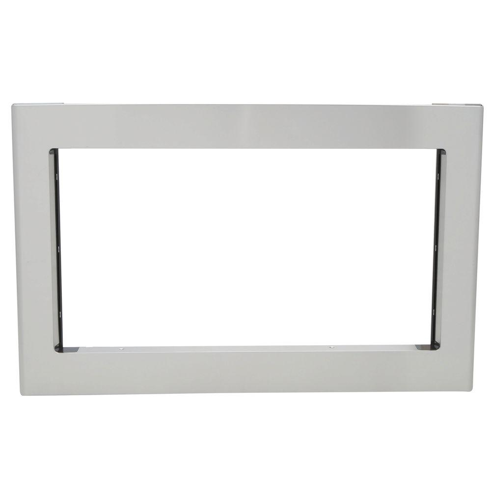 null Deluxe 30 in. Built-In Microwave Trim Kit in Stainless Steel