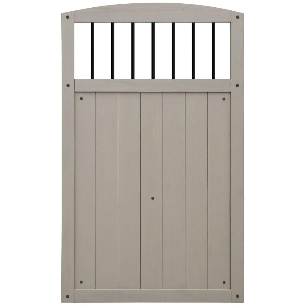 Baycrest 42 in. x 68 in. Gate with Black Baluster Insert  sc 1 st  The Home Depot & Wood - Deck Railing Systems - Deck u0026 Porch Railings - The Home Depot