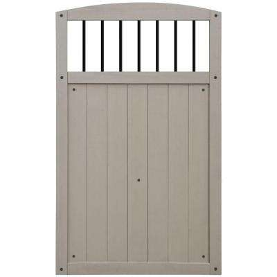 Baycrest 42 in. x 68 in. Gate with Black Baluster Insert