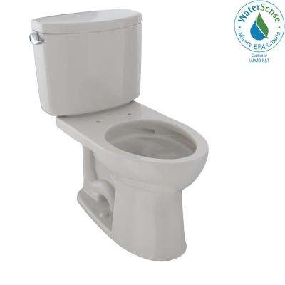 Drake II 2-Piece 1.28 GPF Single Flush Elongated Toilet with CeFiONtect in Sedona Beige