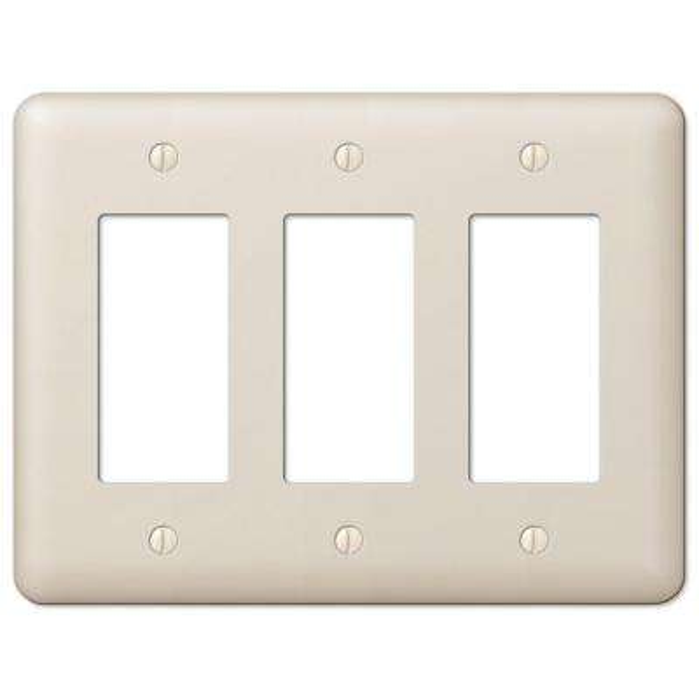Devon 3 Decorator Wall Plate - Almond