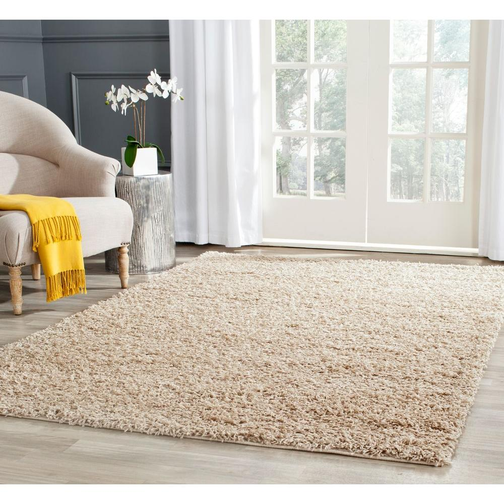 Safavieh Athens Shag Beige 5 ft. 1 in. x 7 ft. 6 in. Area Rug