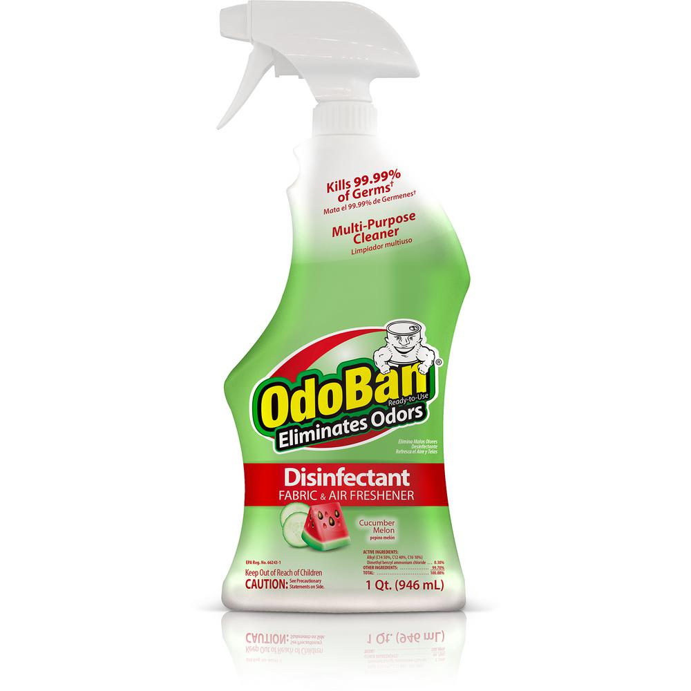 OdoBan 32 oz. Ready-to-Use Cucumber Melon Disinfectant Fabric and Air Freshener
