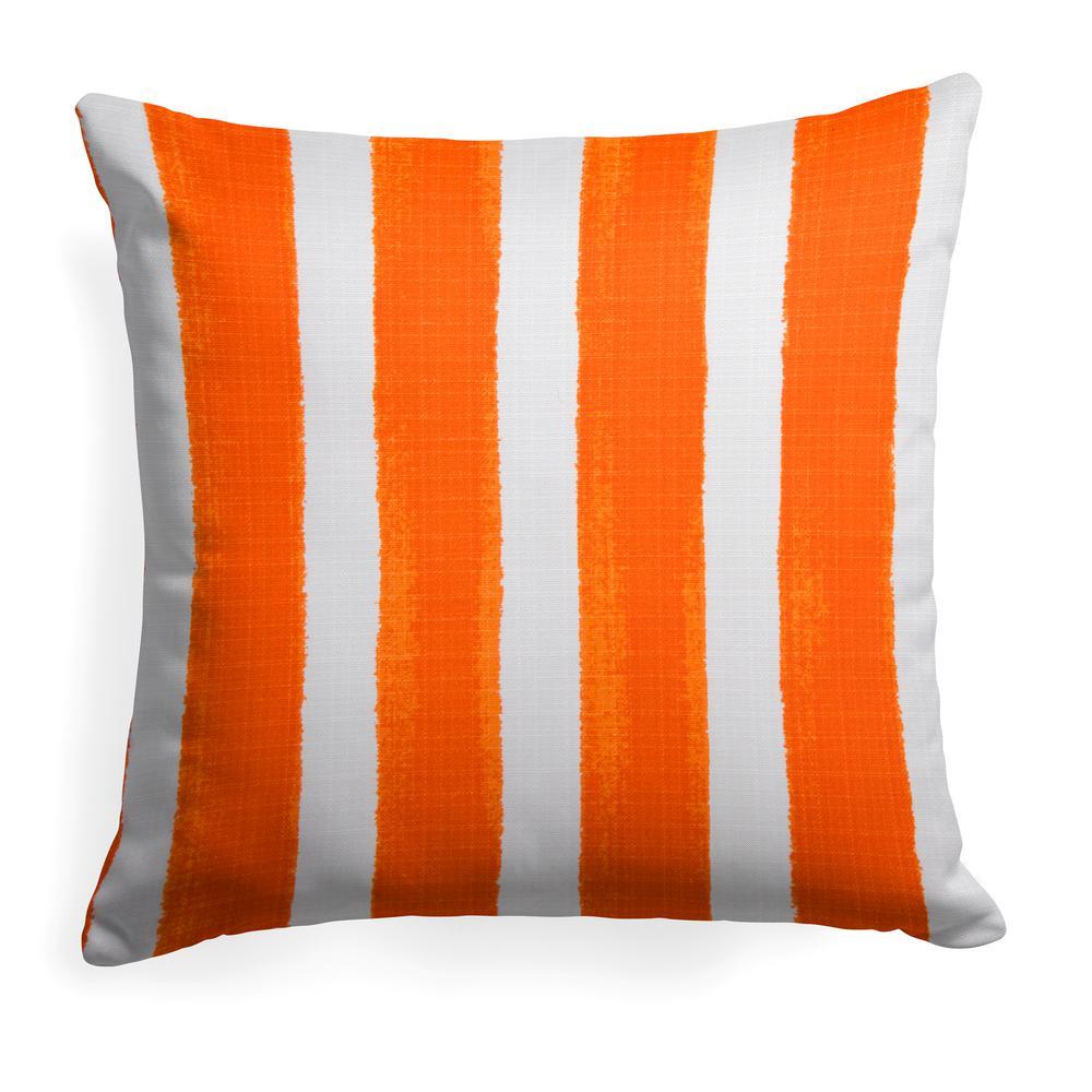 Caravan Orange Square Outdoor Throw Pillow