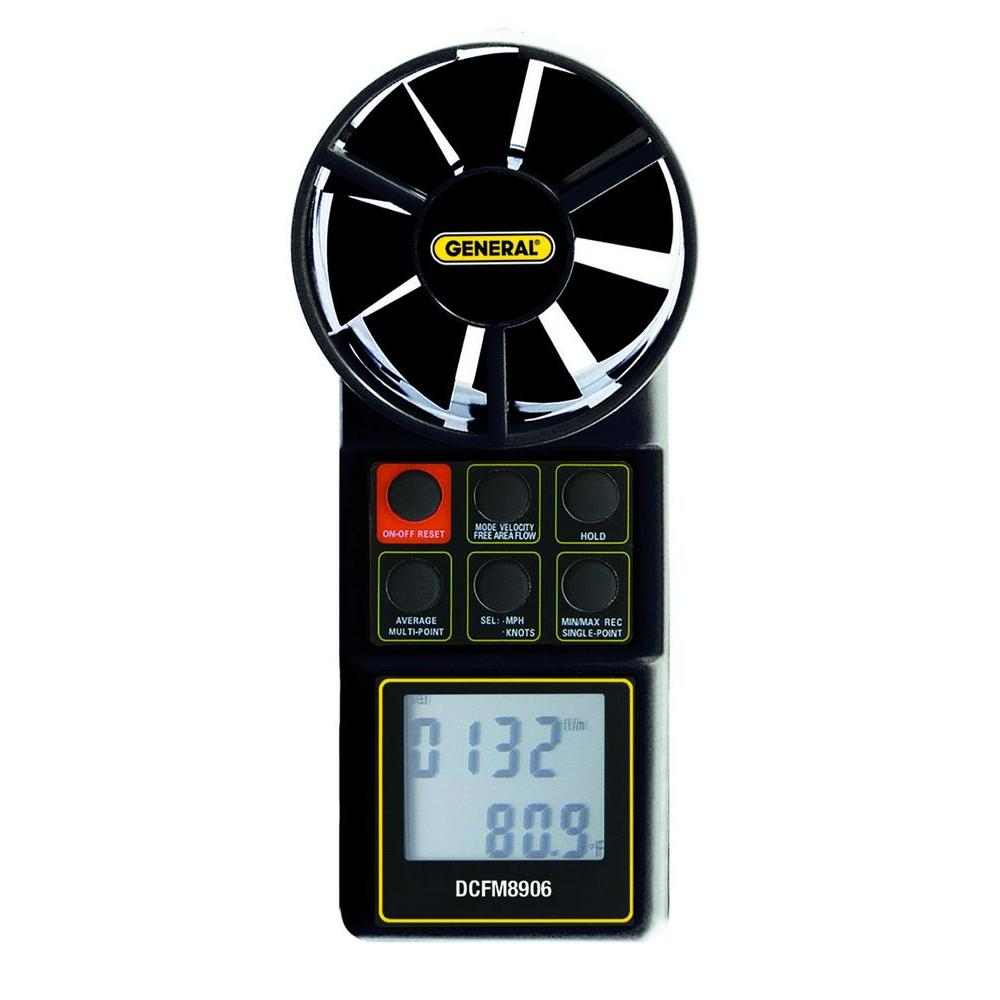General Tools Digital CFM Meter with Hard Case