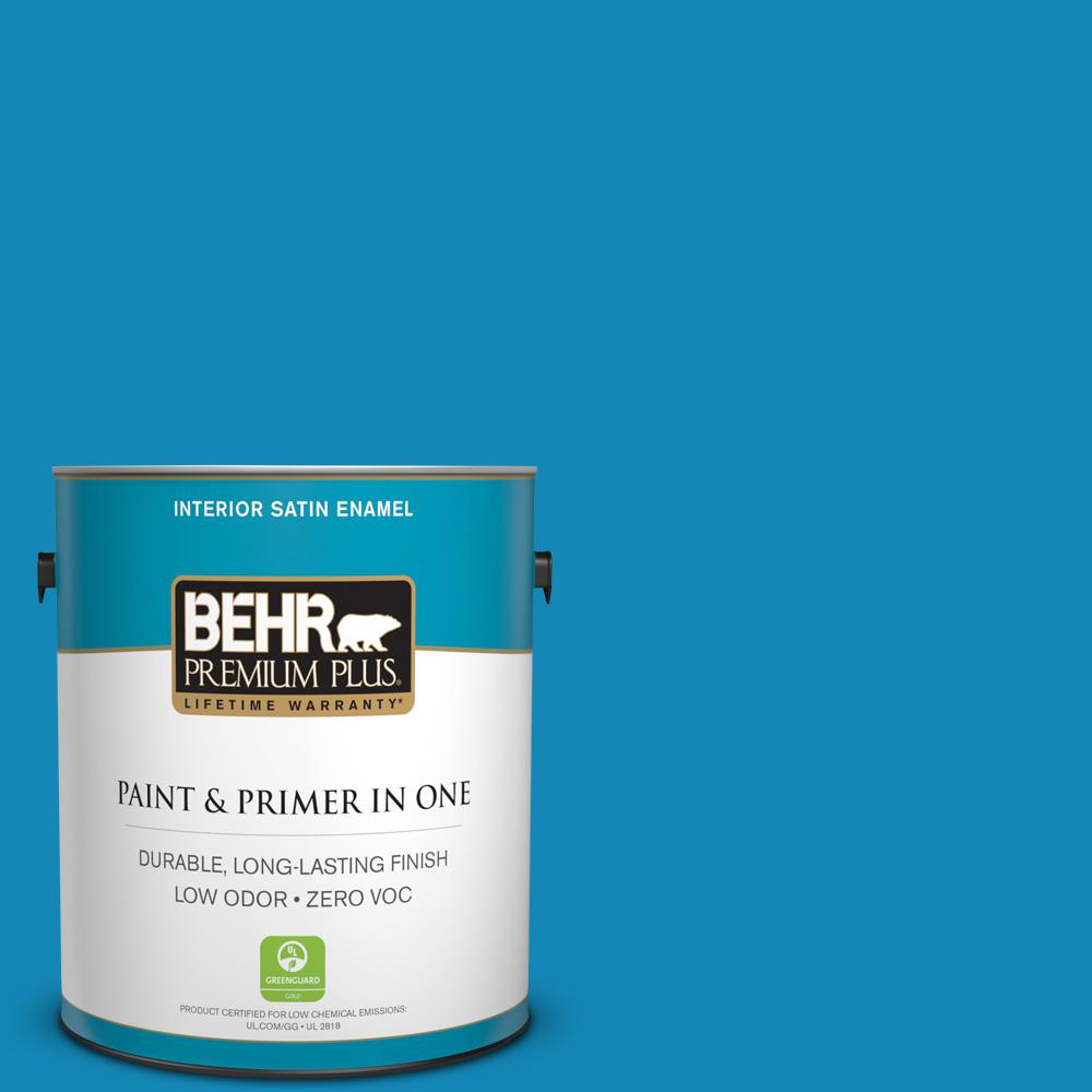 1-gal. #540B-7 Royal Peacock Zero VOC Satin Enamel Interior Paint