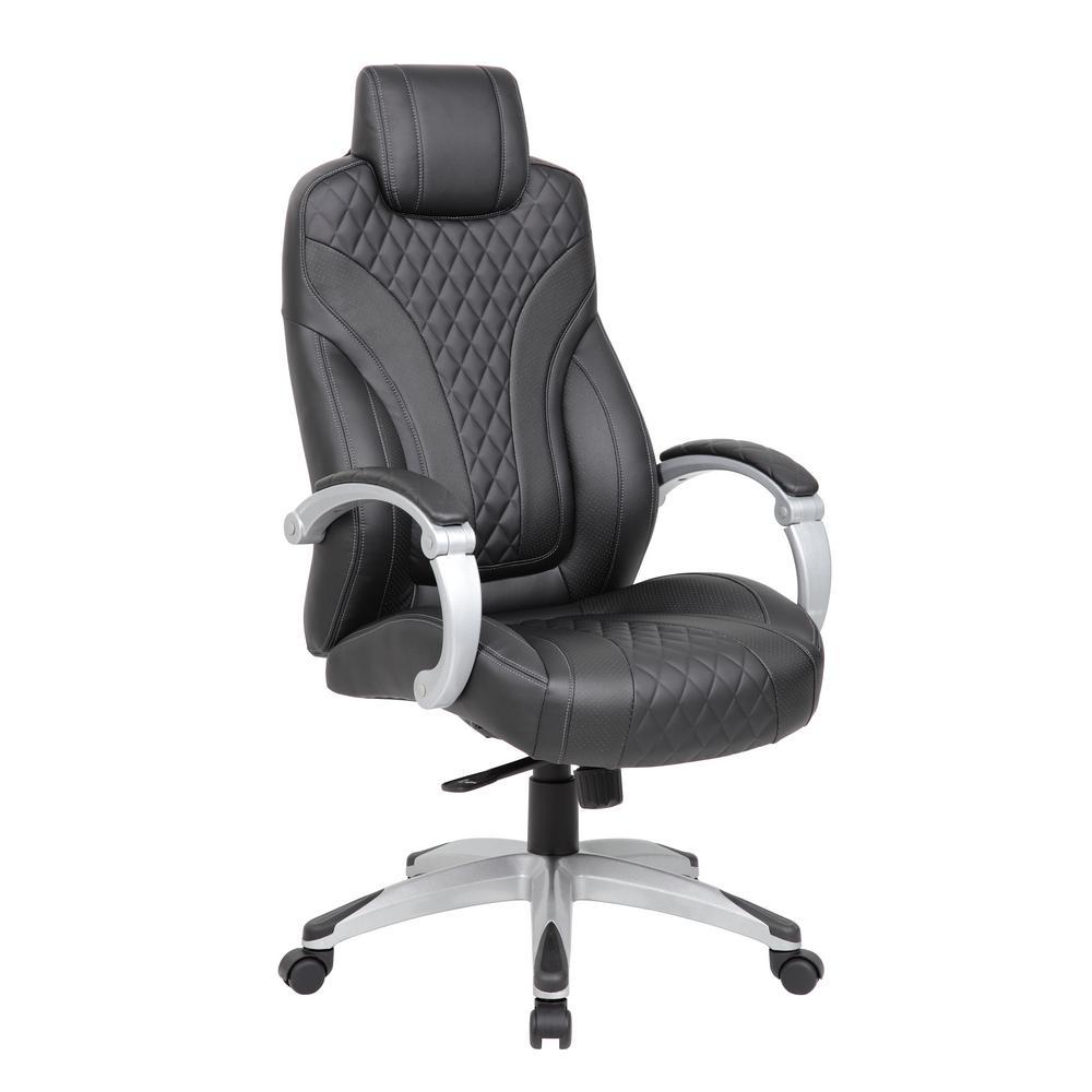 Executive Black Hinged Arm Chair
