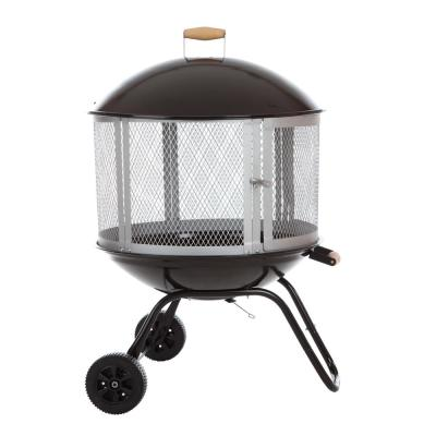 Bessemer 28 in. Round Steel Fire Pit in Black