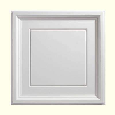 2 ft. X 2 ft. Icon Coffer White Ceiling Tile