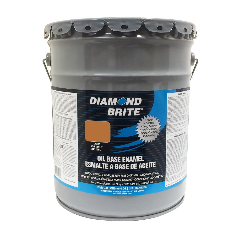 5 gal. Chestnut Oil Base Enamel Interior/Exterior Paint