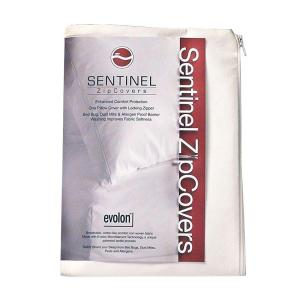 Sentinel King - Evolon Zippered Allergy Pillow Protector - Dust Mite, Bed Bug, and Allergen Proof Encasement by Sentinel