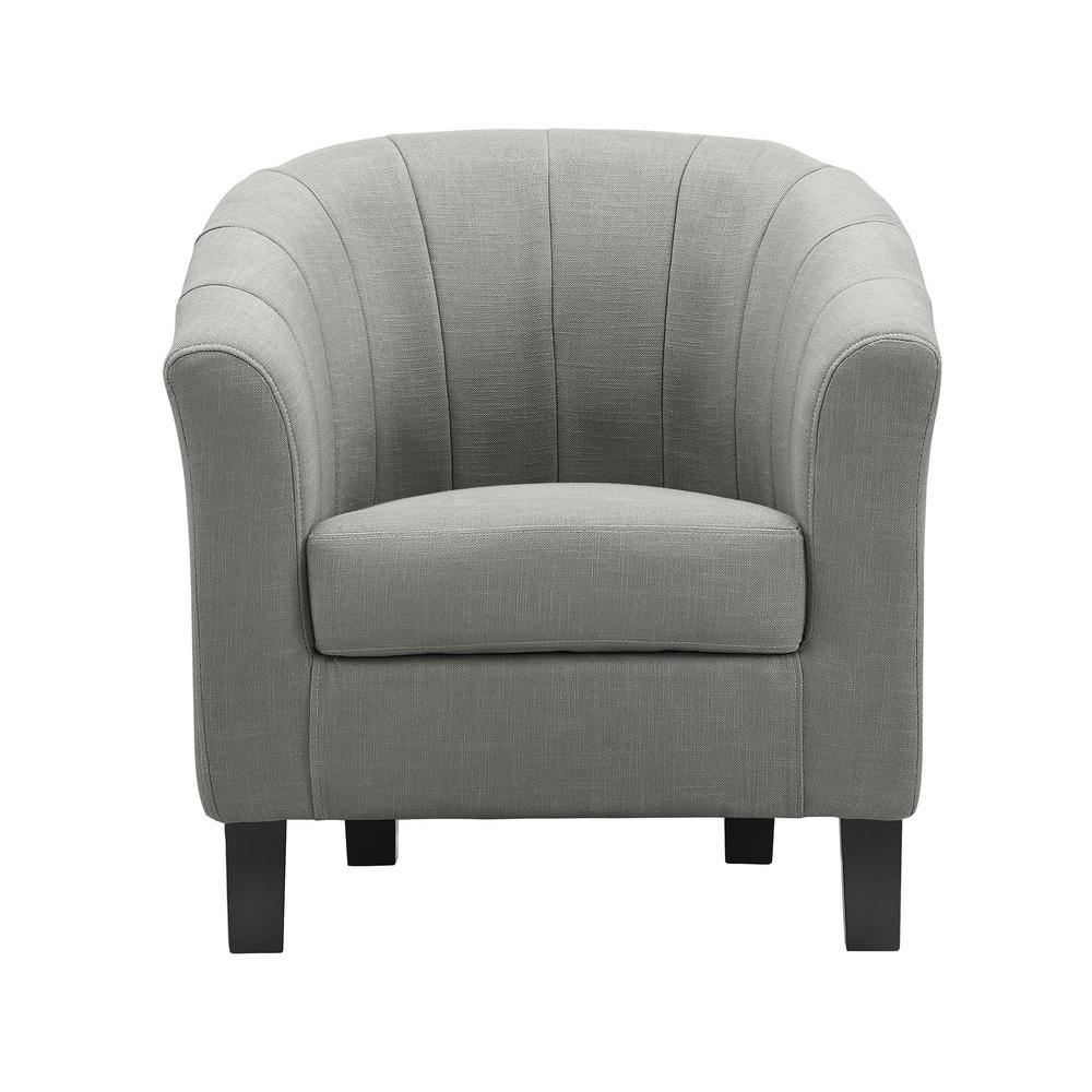 Roxanne Gray Linen Arm Chair