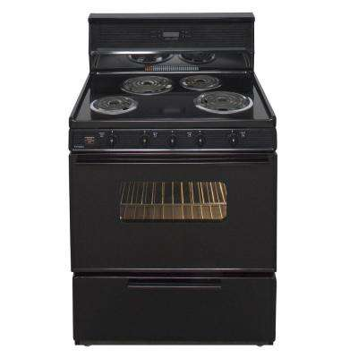 30 in. 3.91 cu. ft. Electric Range in Black