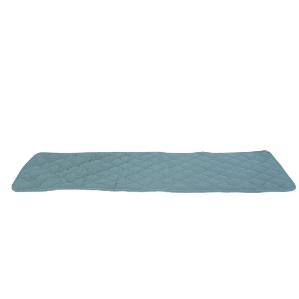 null Small Spa Blue Quilted Bed Scarf