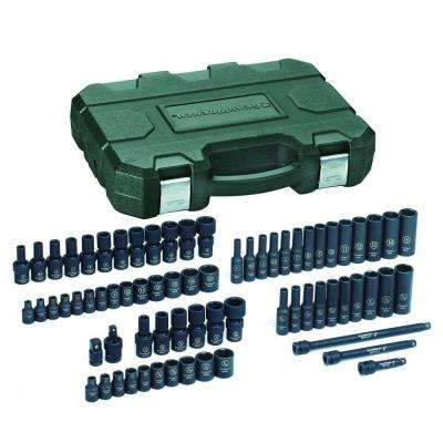 1/4 in. Drive SAE/Metric Impact Socket Set (71-Piece)