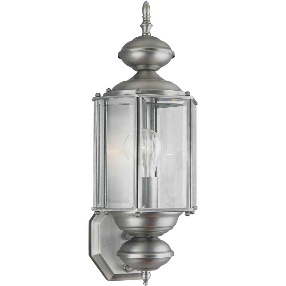Illumine 1 Light Outdoor Lantern Olde Nickel Finish Clear Beveled Glass Panels-DISCONTINUED