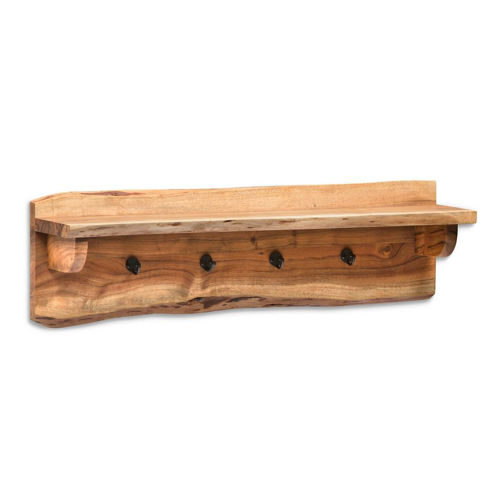 alaterre furniture alpine natural live edge wood 36 in coat hooks