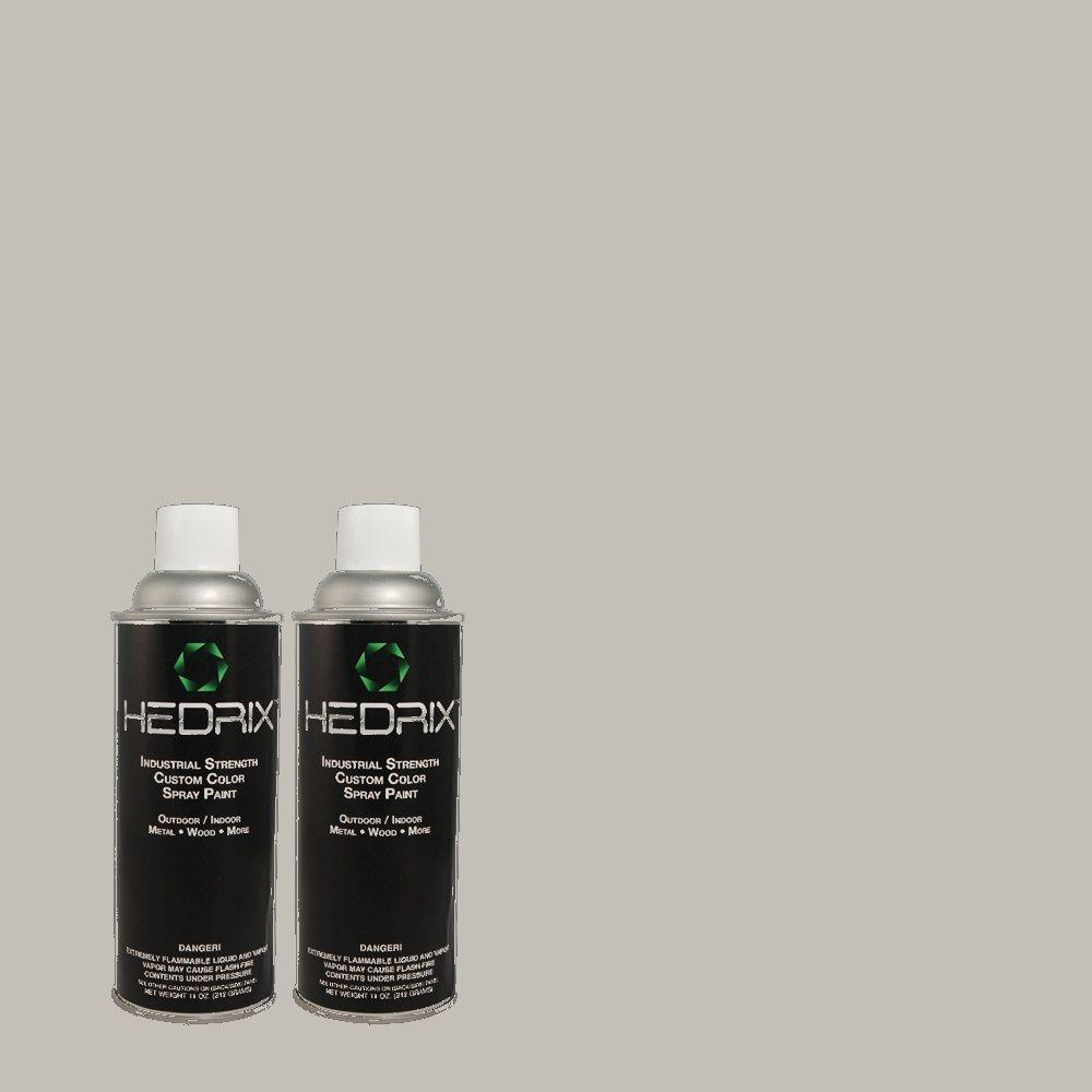 Hedrix 11 oz. Match of PPU18-5 French Silver Low Lustre Custom Spray Paint (8-Pack)