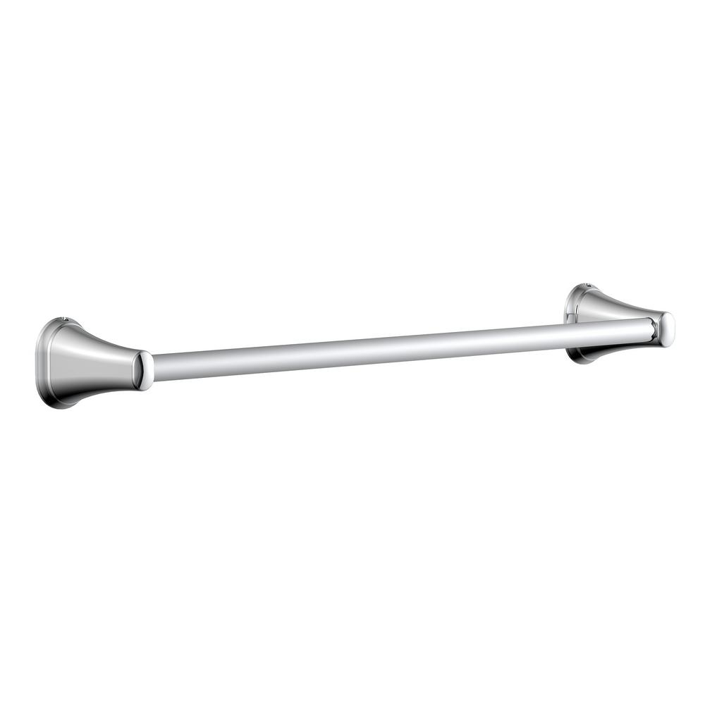 GlacierBay Glacier Bay Treyburn 18 in. Towel Bar in Chrome, Grey