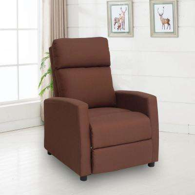 Lavery Chocolate Linen Pushback Recliner