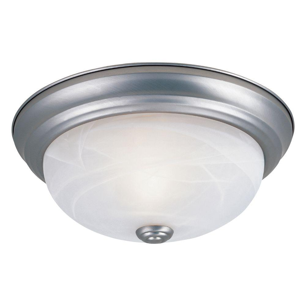 Reedley Collection 3-Light Pewter Ceiling Flushmount