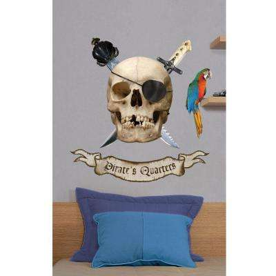 Removable and Repositionable Ultimate Wall Sticker Mini Mural Appliques Pirate