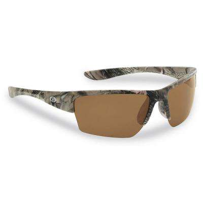 Glades Polarized Sunglasses Matte Camo Frame with Amber Lens