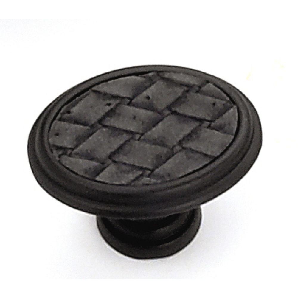 1-5/8 in. Oil Rubbed Bronze/Black Oval Cabinet Knob