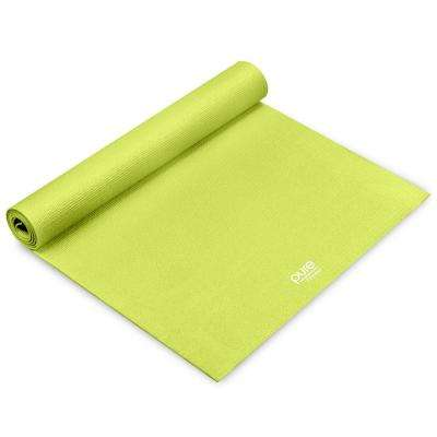 24 in. x 68 in. 0.25 in. Green Yoga Mat