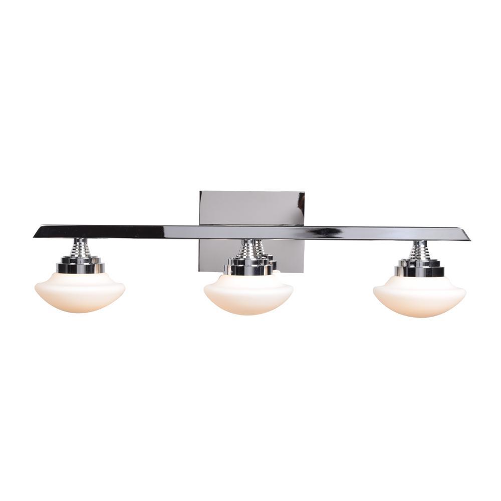 Atomiser 25 in. W 5-Watt Chrome Integrated LED Bath Light