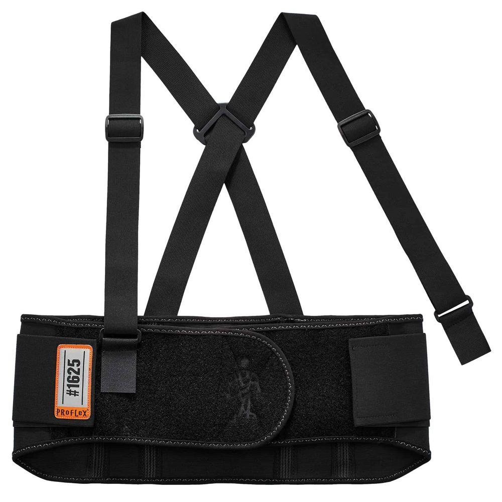 ProFlex Large Black Elastic Back Support Brace
