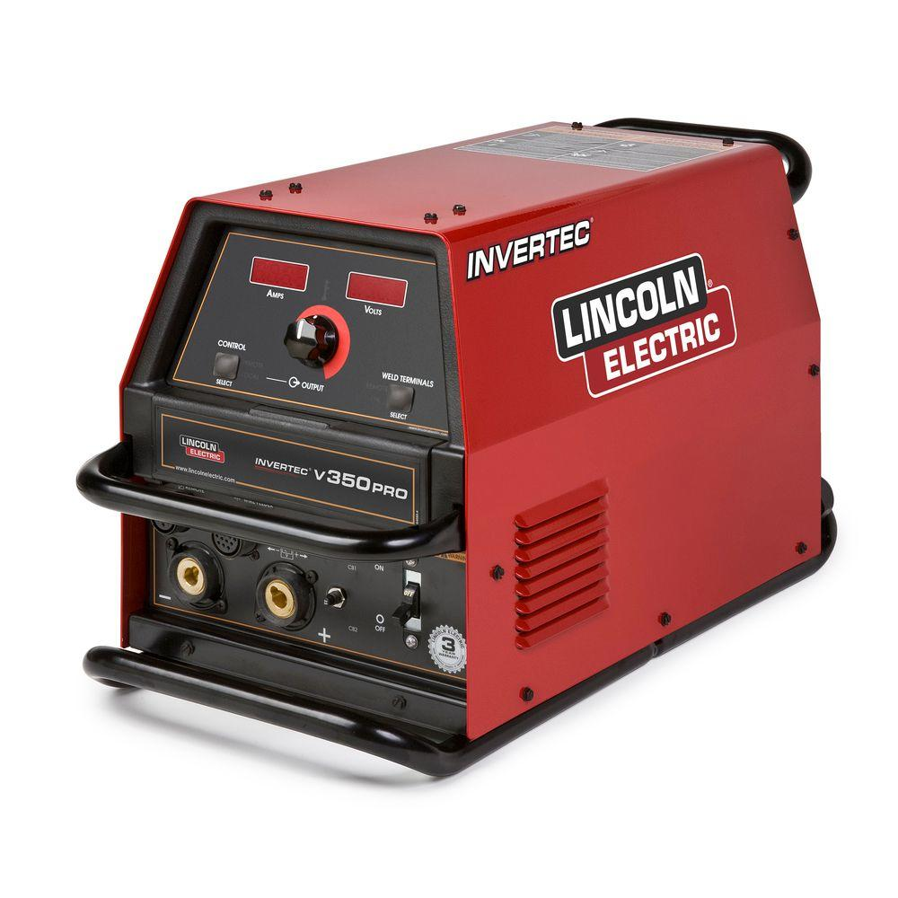 51409d26c045 Lincoln Electric 425 Amp Invertec V350 PRO Multi-Process Welder (Factory  Model) with 2 Twist Mate Plugs, Single Phase or 3 Phase