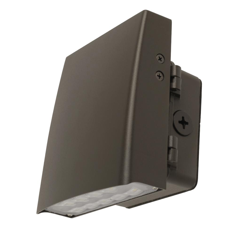 Commercial Grade 6 in. 12-Watt Bronze Outdoor Integrated LED Security Adjustable