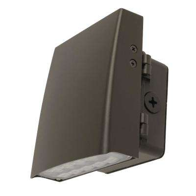 Commercial Grade 6 in. 12-Watt Bronze Outdoor Integrated LED Security Adjustable Wall Pack Light (4-Pack)