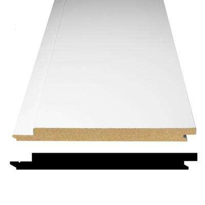 1/2 in. x 5-5/16 in. x 32 in. Primed MDF Shiplap Wainscot Panels (18-Pack)