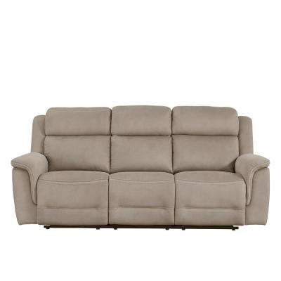 Grey Noah Power Reclining Sofa with Power Headrests