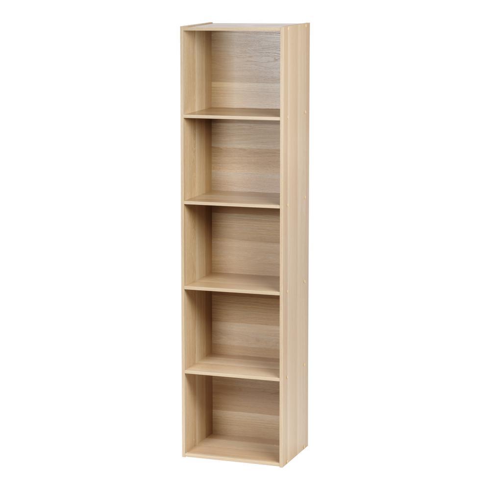 Light Brown 5-Tier Shelf
