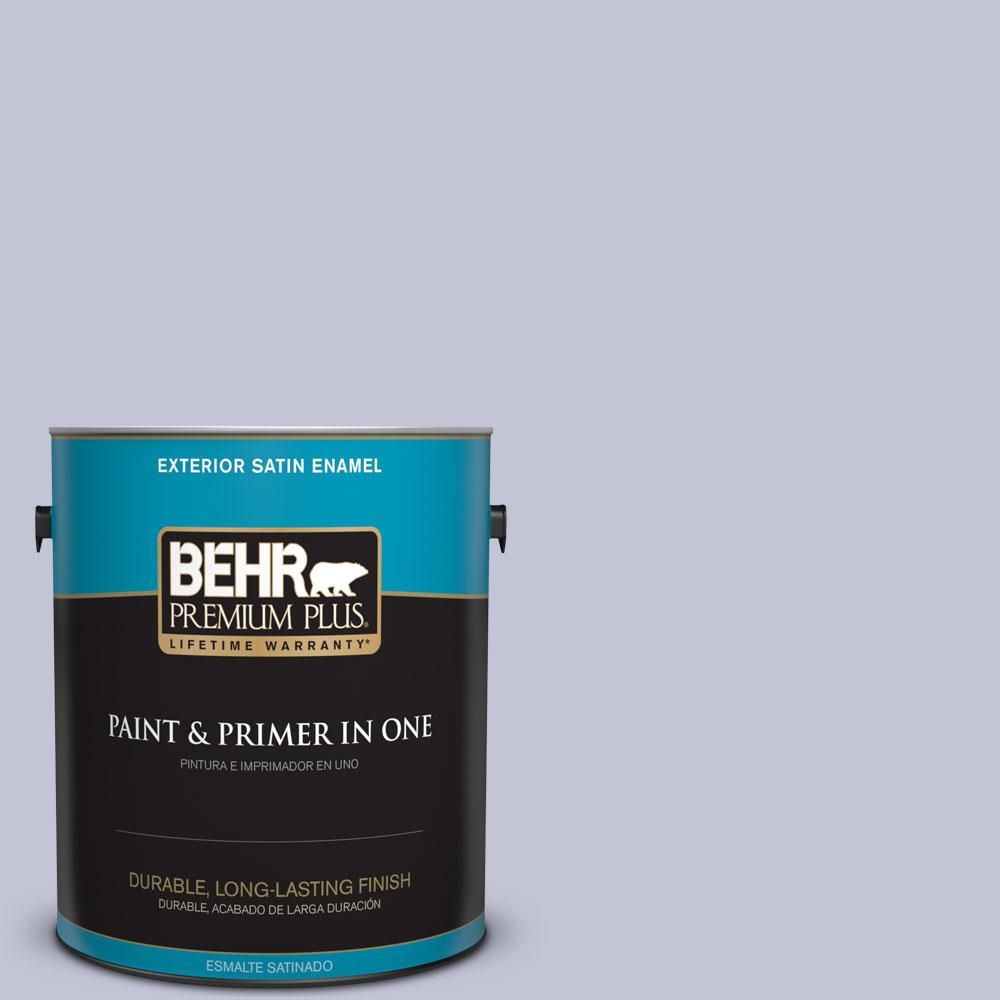 1-gal. #630E-3 Grape Lavender Satin Enamel Exterior Paint