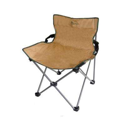31 in. H Portable Low Backrest Armless Beige Folding Chair