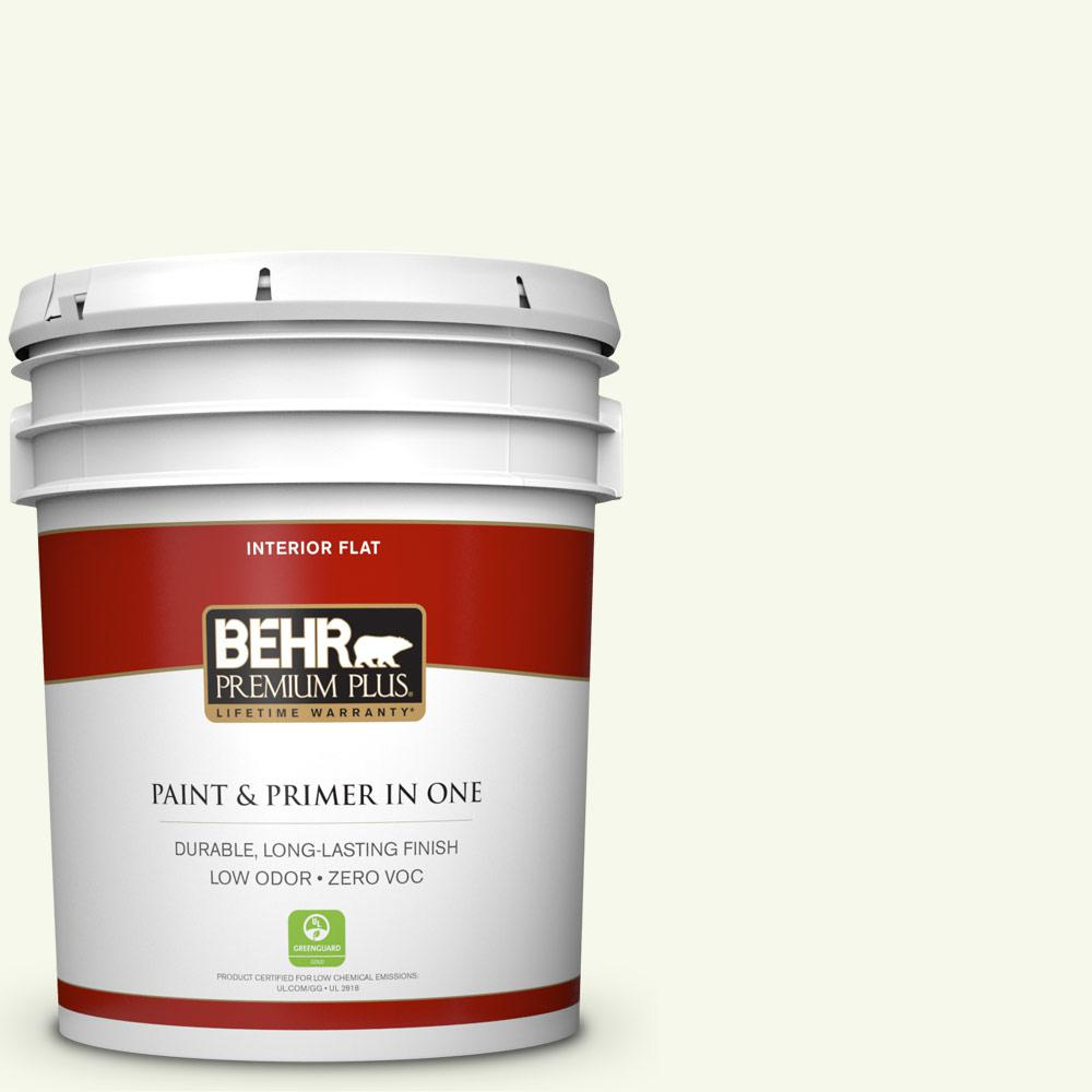 5 gal. #BXC-29 Stately White Flat Zero VOC Interior Paint and