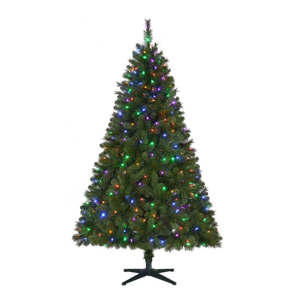 home accents holiday 6 5 ft pre lit led wesley artificial christmas