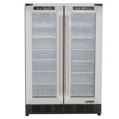 Dual Zone 23.4 in. 42-Bottle 114 Can Wine and Beverage Cooler