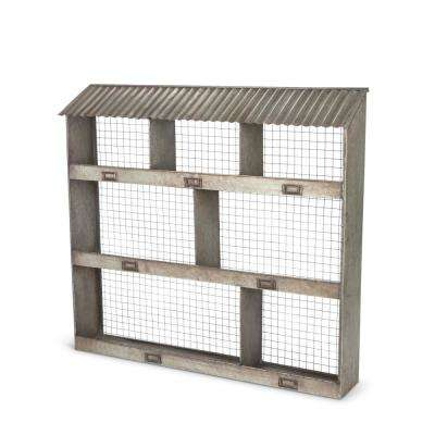 Metal Hen House Wall Cubby