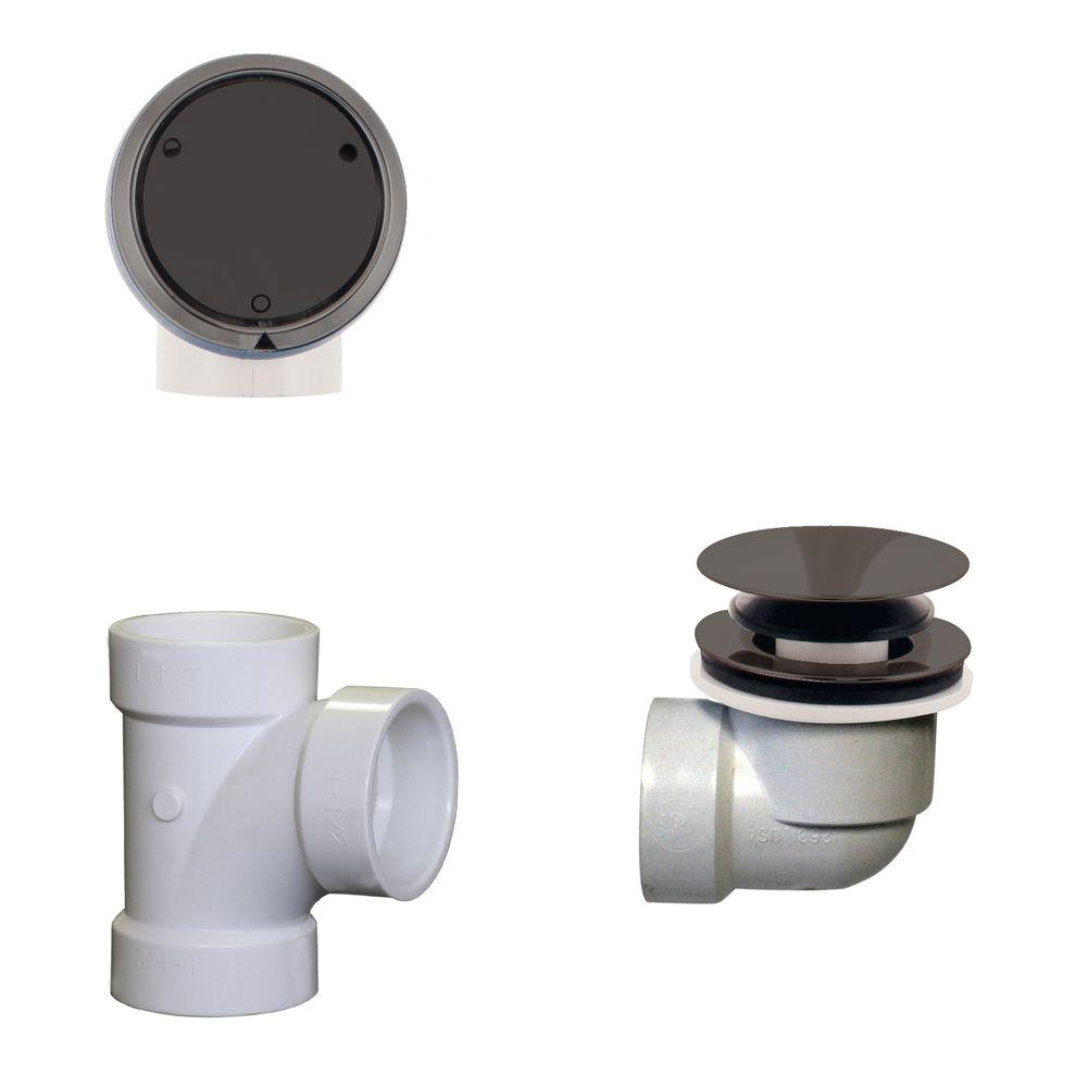 Plumber's Pack Full or Partial Closing Metal Overflow with Drain and