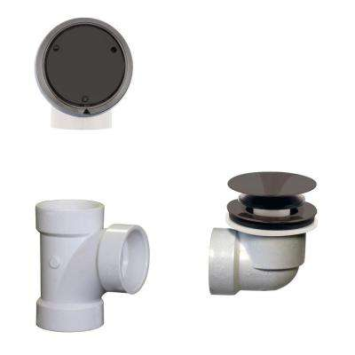 Plumber's Pack Full or Partial Closing Metal Overflow with Drain and Tee in Oil Rubbed Bronze