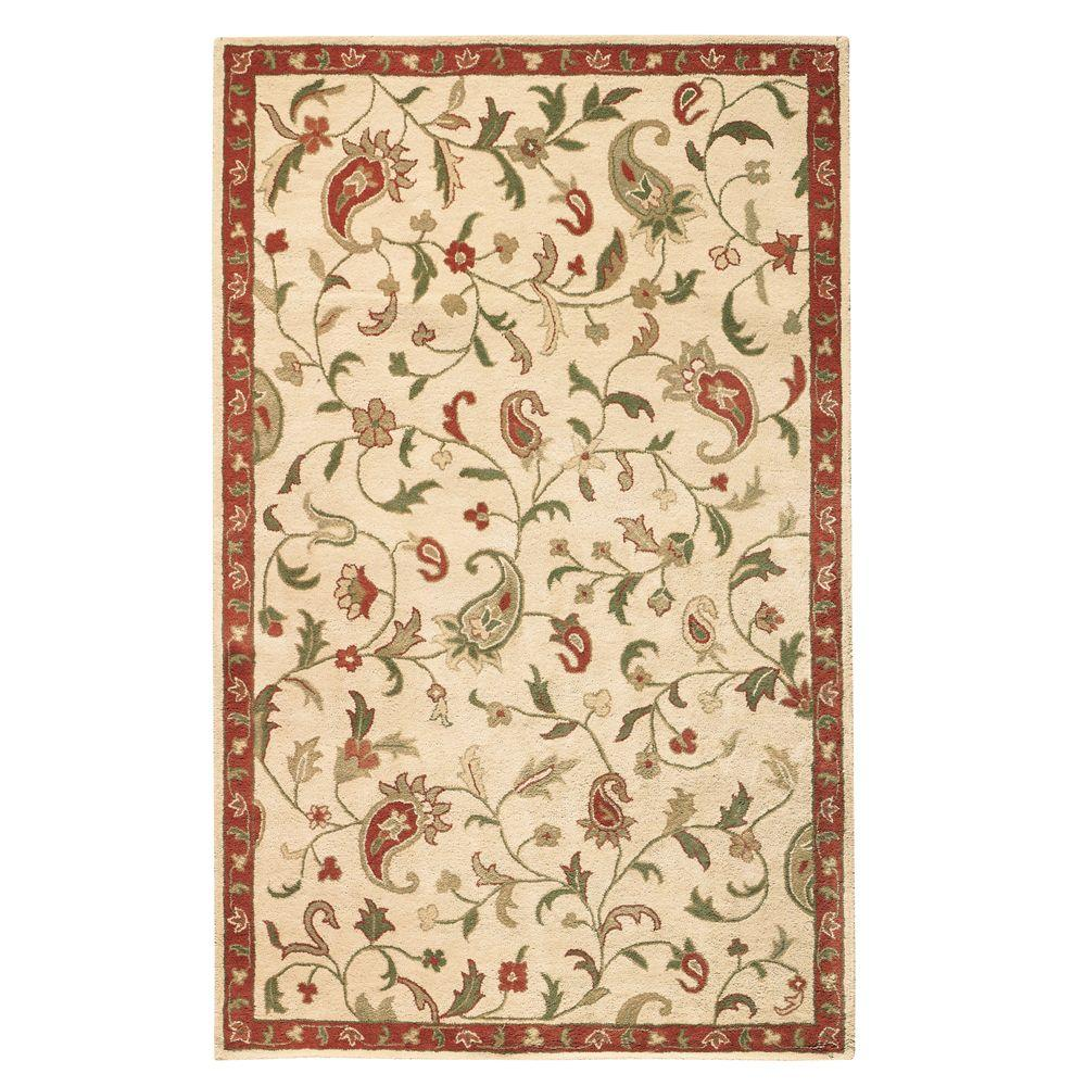 Home Decorators Collection Stafford Honey 5 ft. x 8 ft. Area Rug